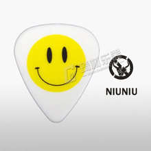 "Standard Shape ""Have A Nice Day"" Happy Smiley Face Guitar Pick Plectrum Mediator 1.0mm, 1/piece(China)"