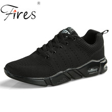 Fires Men's Sports Shoes Rubber Wear Running Shoes Outdoor Comfortable Breathable Walking Shoes Trend Man Black colors Sneakers