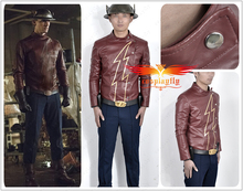 2017 The Flash Season 2 Jay Garrick PU Clothing Cosplay Costume For Silver Kettle Helmet Custom Made Boots Shoes Five Options
