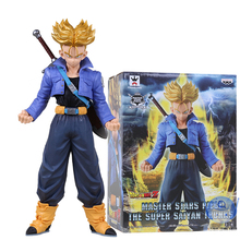 Free Shipping 2016 Dragon Ball Z Super Saiyan Trunks 24cm/9.5 Inch Original Master Stars Piece (MSP) Collection Figure With Box