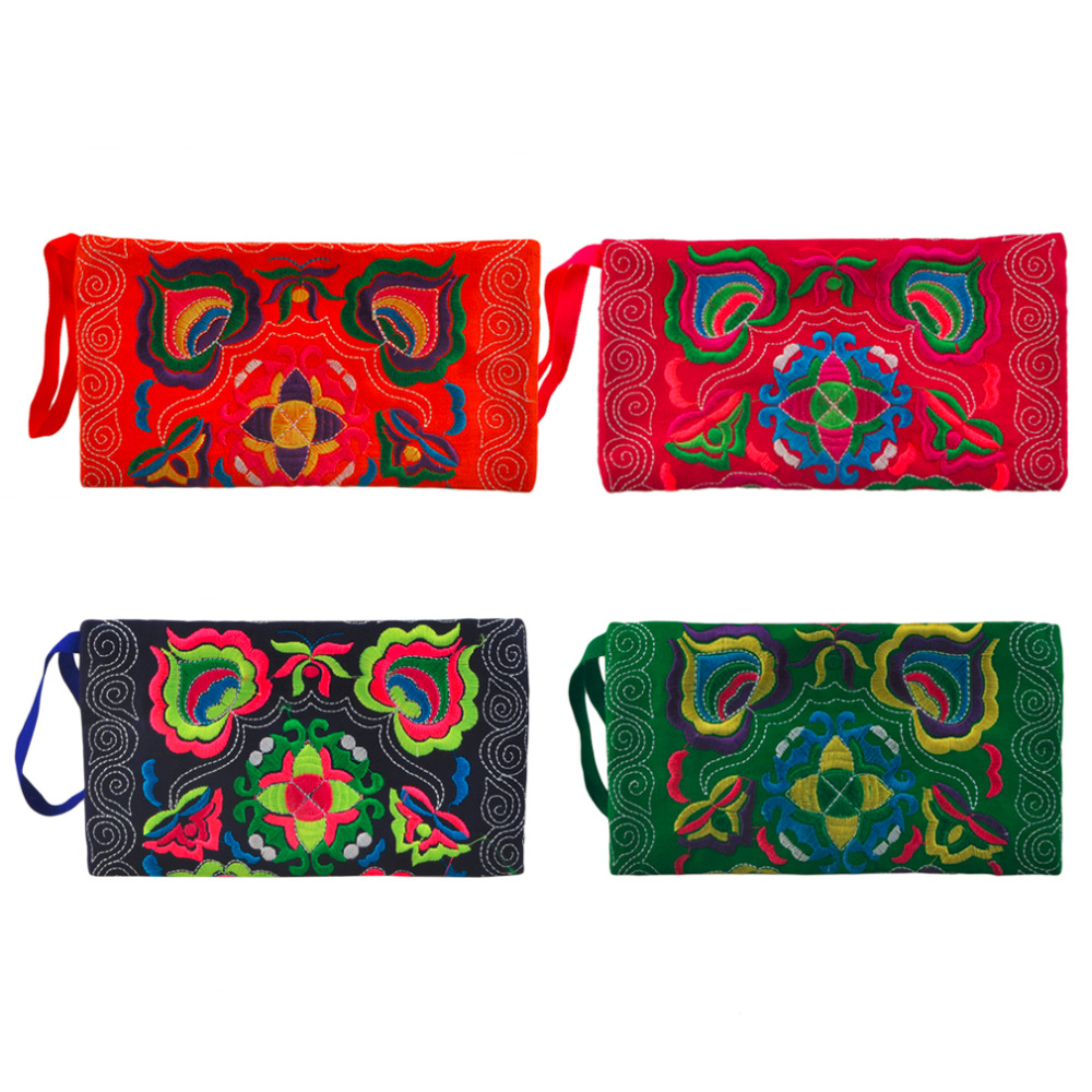 Ethnic Gorgeous Embroidery Floral Handmade Boho Style Embroidered Canvas Cover Superb Wallet Long Clutches Purse 2016 Hot Sale<br><br>Aliexpress