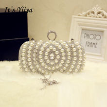 It's Yiiya Women Real Picture Sales Evening party bag Luxurious Diamonds Quality Chain Beading with Cell Phone Pocket HB067(China)