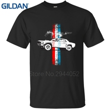 2017 Hot Sale t shirts Ford Mustang Tribar GT S~4Xl Comical black mens tee shirt 100% cotton Clothes O-Neck
