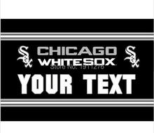 3X5FT MLB Chicago White Sox text flag US YOUR TEXT banner metal Grommets Free Shipping custom flag 100D Digital Print(China)