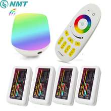 Mi Light Led Controller DC5V WiFi Box +RF Touch Remote+ DC 12V 24V 2.4G Wireless 4 Zone RGB Control for RGB Strip Bulb Downlight