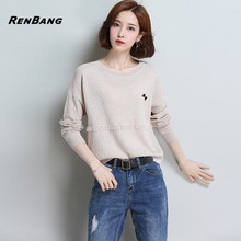 Buy RENBANG Sweater Women Spring New Arrivals Fashion Long Sleeve O Neck Knitted Sweater Ladies Casual Tassel Sweater Woman Clothes for $26.47 in AliExpress store