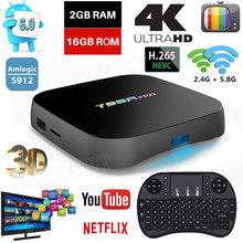 T95R PRO Android 6.0 Smart TV Box Octa core Amlogic S912 Dual Band WiFi BT4.0 4K H.265 3D Media Player RAM 2G ROM 16G tv box