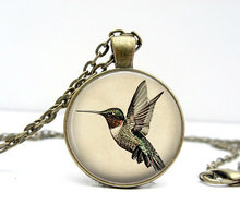 2017 new hot Vintage bronze Hummingbird Necklace Gold Handmade Humming birds pendant jewelry Colar Gift Accessories for her HZ1