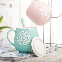 Thousands of easy relief petals Cup Ceramic Mug Coffee Cup bulk milk glass cup Office