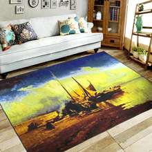 sitting room carpet hotel European study Tea table MATS Bath mat Landscape pad,Put a floor sofa cloth