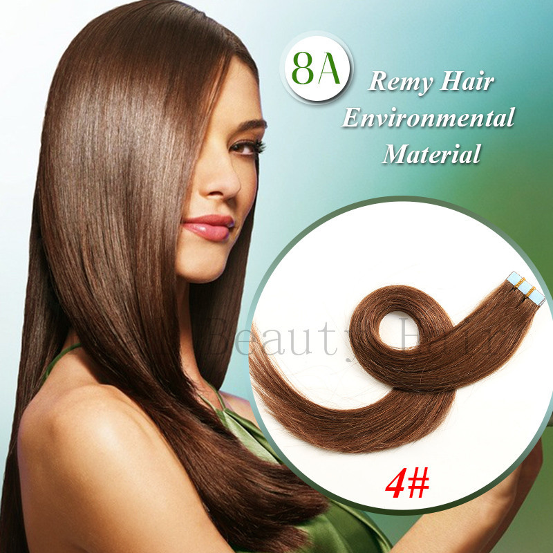 Skin Tape Hair Extensions Pu Skin Weft Hair Extensions Brown Pu Skin Weft Human Natural Hair Taped Aplique De Cabelo Humano<br><br>Aliexpress