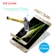 Full Cover Tempered Glass For Samsung Galaxy A5 A7 2016 Screen Protector on Note 4 Note5 S6 S7 9H 2.5D Curved Protective Film