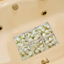 Funlife 3D Anti Rutsch Wasserdichte PVC Badewanne Aufkleber Decor Jasmin Badezimmer  Aufkleber Wandaufkleber Drop Ship Verkauf 15.