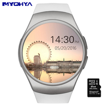 MAHOYA circular screen KW18 smartwatch 2017 wrist watch cell phone relogio smart whatch gps android fitness Heart rate detection
