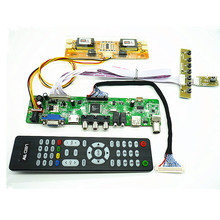 "TV+HDMI+VGA+AV+USB+AUDIO TV LCD driver board 23"" LTM230HT01 LM230WF1 1920*1080 LCD controller board DIY kits(China)"