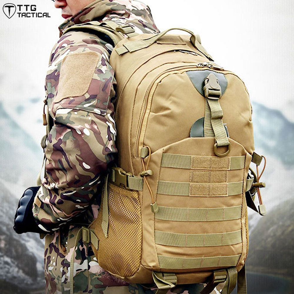 TTGTACTICAL Durable MOLLE Assault Backpack Army Shockproof Camouflage Computer Backpack Large Capacity Military Rucksack <br><br>Aliexpress