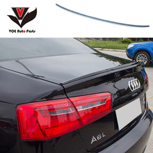 A6 C7 Modified S6 Style ABS Plastic Unpainted Primer Rear Trunk Lip Spoiler for Audi A6 C7 2012 2013 2014 2015