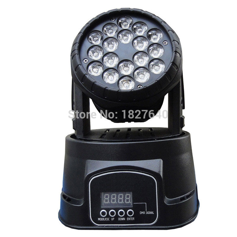 Fast Shipping 18x3w RGB CREE LED mini Moving Head Light Moving Head Wash Light For Event Disco Party Nightclub(China (Mainland))