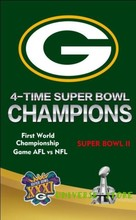 Free shipping 3x5FT Green Bay Packers Super Bowl flag, NFL Vince Lombardi Trophy Championship banner digital printing 100D