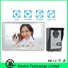 Wall mounting intercom system cheap price video door bell 815MA11 7 inch color monitor and IR camera video door phone doorbell