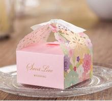 7x6.7x4CM pink Craft Paper Jewelry Packing Box Small Gift Box For Biscuits Handmade Soap Wedding Party Candy cake cookies Box(China)