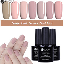 UR azúcar Color Nude Rosa Gel de uñas polaco LED UV Gel barniz de larga duración Soak Off UV Gel Lacquer brillo manicura pegamento Gel(China)