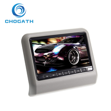 "ChoGath(TM) 9"" Digital HD LCD Screen Car Pillow Headrest Monitor DVD/USB/SD Player IR/FM AS"