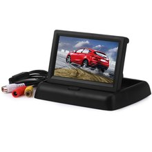 High Definition 4.3 inch Car Rear View Monitor with Reserving Digital LCD TFT Display Screen Foldable Vehicle Rearview Monitors(China)