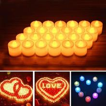 24PCS/Lot LED Candle Light Flameless Magical Birthday Candles Weeding Home Decoration Waterproof Bougie Anniversaire Velas