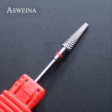 ASWEINA 1pc Nail Art Tool Manicure Tungsten Steel Drill Bit For Electric Nail File Machines Polisher Grind Professional Nail Bit