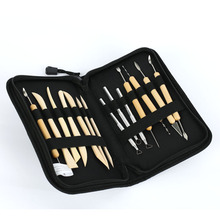 14pcs/set Pottery Tools DIY utility knife Tools of Modeling Clay Wood Wax Handle Clay Sculpture Carving Craft ACT with bag