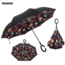 Ceiourich 3D Flower Sky Umbrella Women Men Cover Awning High Quanlity Double Layer Customizable Pattern Umbrella-001