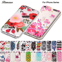 B67 Soft Beautiful Back Cover Skin For iPod Touch 6 5 Ultra TPU Silicone Case For iPhone X 10 8 7 6 6s Plus 5 5S SE 5C Fundas(China)
