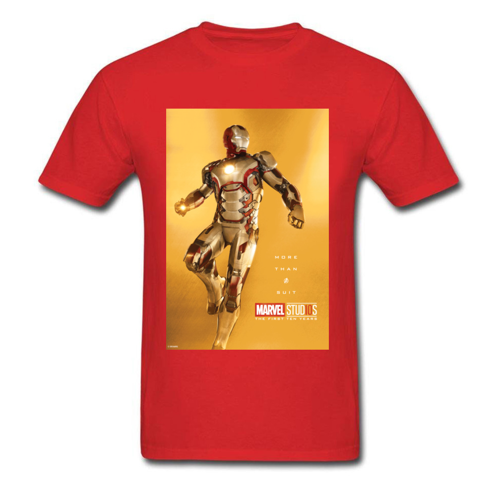 Tops Tees Marvel More Than A Suit Thanksgiving Day Short Sleeve Pure Cotton Round Neck Men Top T-shirts Casual Tshirts Prevalent More Than A Suit red