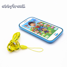 Abbyfrank Learning Toy English Language Phone English Machines Baby Toy Mobile With Song Light Story Educational Toys For Kids(China)