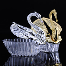 48pcs Swans Plastic Candy Box Sweet Wedding Gift Favor