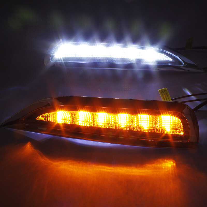 top quality led drl daytime running light for mazda 6 core 2012, 2009, 2013 with indicator and auto off function<br><br>Aliexpress