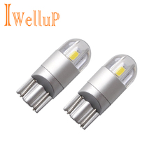2x Car-Styling T10 W5W LED Clearance Lights Reading Lights Car W5W LED T10 License Plate Lights Trunk Lamp DC 12V(China)