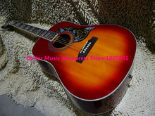 Wholesale guitars Cherry Burst Humingbird Acoustic Guitar high quality guitars free shipping(China)