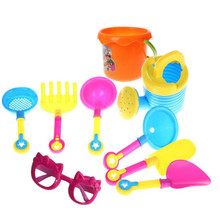 9Pcs Sand Sandbeach Kids Beach Toys Castle Bucket Spade Shovel Rake Water Pretending Toys Gift Levert Dropship Oct 26(China)