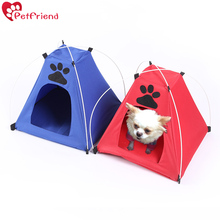 Pet Dog Tent Camping Gear Cat Tent Foldable Pet Shelter Tent bed house for Indoor Outdoor travel Small Dogs or Cats(China)