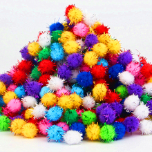 Buy 10-30mm Fluffy Craft PomPoms Balls Pom Poms Tinsel Festive Party Wedding Ball Decoration Supplies Decorative Flowers 20g for $1.34 in AliExpress store