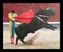 Hand Painted Impressionist Oil Painting Spain Matador NO.6 Home Decoration Wall Art Drop Shipping