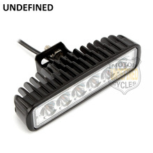 Motorcycle Accessories 18W LED Work Light Bar Flood Lamp Fog Driving Light For Yamaha ATV Vessels Fire Engines UNDEFINED(China)