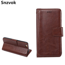 Snzvok Vintage Splice Style with Card Slots Photo Frame Stand Leather Flip Case For iPhone 7 8 plus 6s plus 5G 5s SE 6s cover(China)