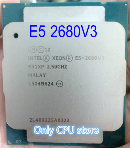 Intel Processor Desktop-Cpu E5 2680v3 12-Cores SR1XP 30MB 120W Original title=
