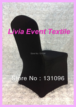 1pcs Factory Direct Sale High Quality Black Lycra Chair Cover Arch Front for Wedding Events &Party Decoration(China)