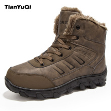 TianYuQi High Quality Hiking Shoes Winter Fur Men Sport Outdoor Trekking Boots Climbing Athletic Shoes Rubber Snow Boot