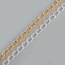 2mm Plated Silver/Light Gold 14x9mm Link-Opened Curb Twist Aluminum Chains For Necklace Bracelet DIY Jewelry Findings&Craft(China)