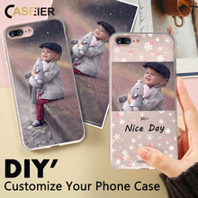 CASEIER Phone Case For iPhone 8 7 6 6s Plus Soft TPU Accessories For iPhone X 5s 5 4s 6s 7 8 Cases Customized Design Photo Cover(China)
